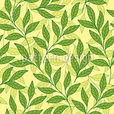 Verwebende Zweige Musterdesign