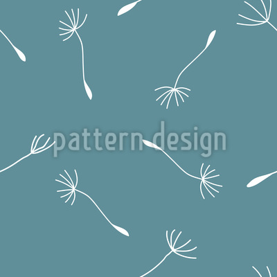 Windige Pusteblume Nahtloses Vektor Muster