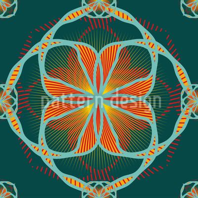 フローラリル花 シームレスなベクトルパターン設計