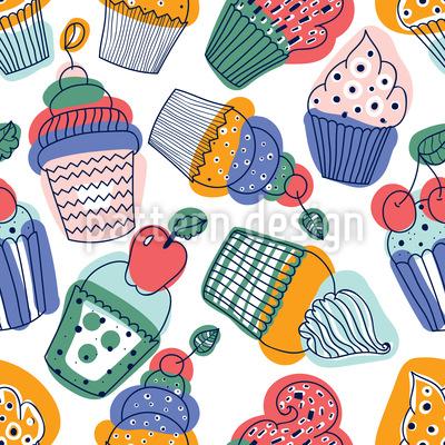 Süße Cupcakes Vektor Design