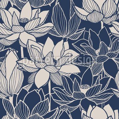 Makro Lotus  Nahtloses Muster