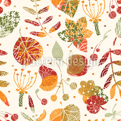 Textured Autumn Floor Vector Pattern