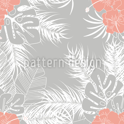 Tropische Grüße Nahtloses Vektor Muster
