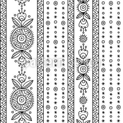 Ethno Doodle Muster Design