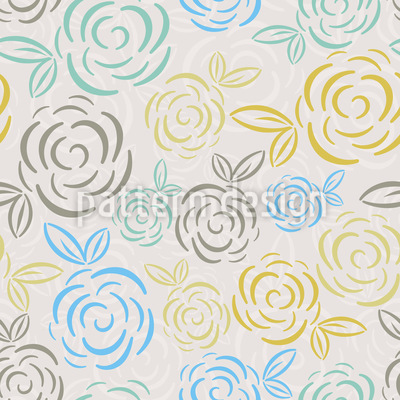 Rosenbälle Nahtloses Vektor Muster