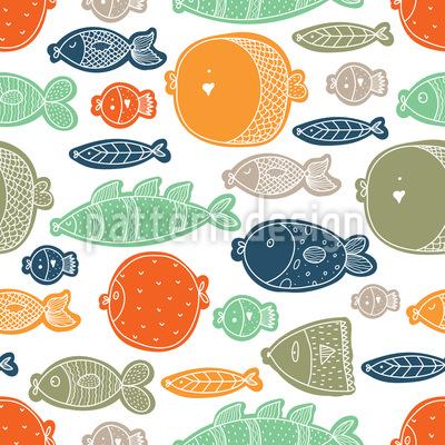 Glückliche Fische in allen Formen Rapport