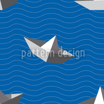 Paperboats Vector Pattern