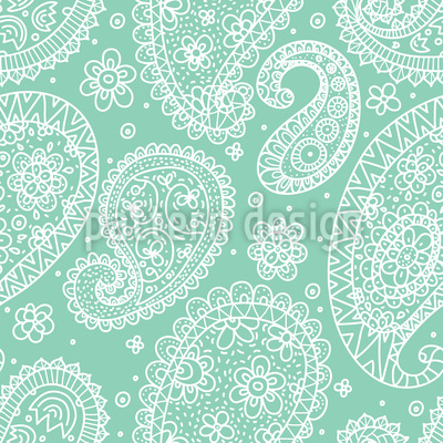 Summer Paisley Vector Pattern