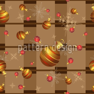 Schneeflocken und Weihnachtskugeln Muster Design