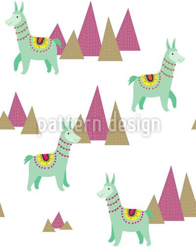 ラマ シームレスなベクトルパターン設計