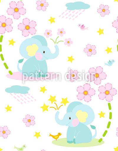 Fröhlicher Elefant Nahtloses Muster