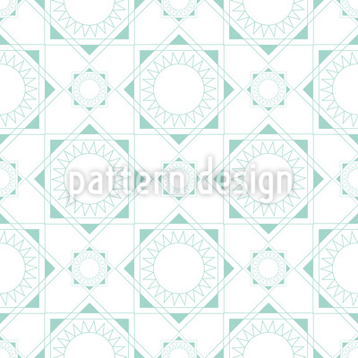 Geometric Sun Repeat Pattern