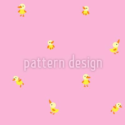 Baby Duck Seamless Vector Pattern Design