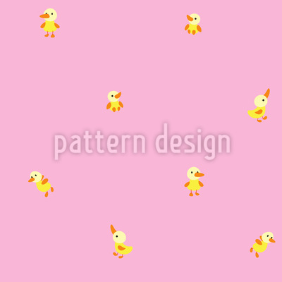 Baby Ente Nahtloses Vektor Muster