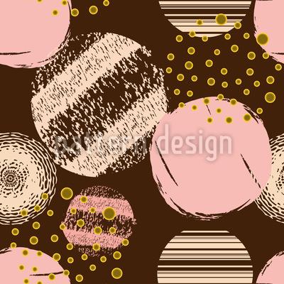 Kreis-Texturen Rapportiertes Design