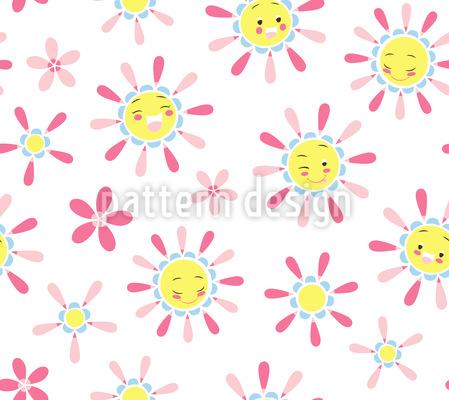 Freundliche Sonnen Musterdesign