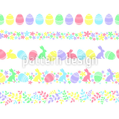 Oster-Feiertagsbordüre Musterdesign