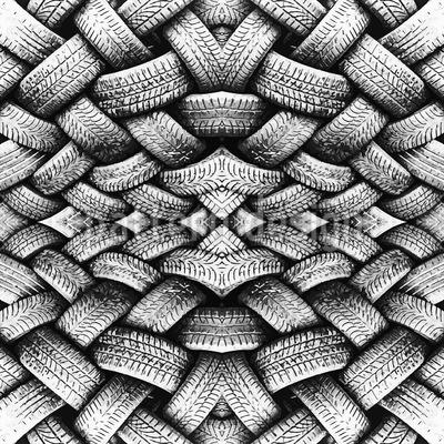 Kunstvoller Reifenstapel Nahtloses Vektormuster