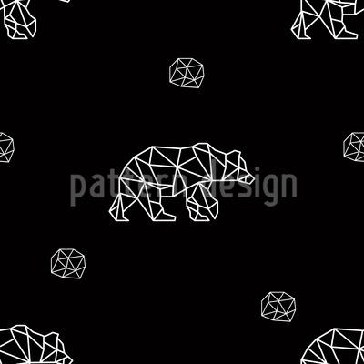 Diamant-Bären Nahtloses Vektor Muster