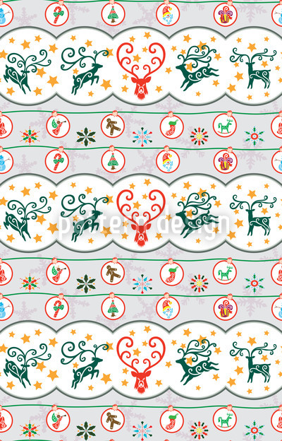 Fröhliche Hirschnacht Muster Design
