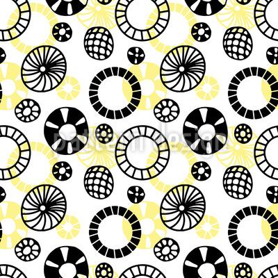 Doodle Wheels Vector Pattern