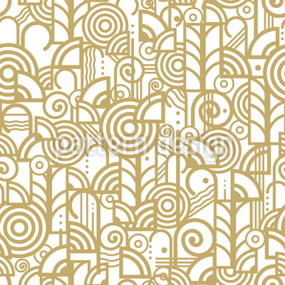Art Deco World Seamless Vector Pattern Design