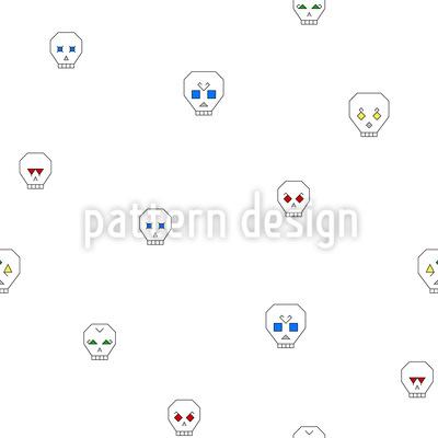 Halloween Schädel Musterdesign