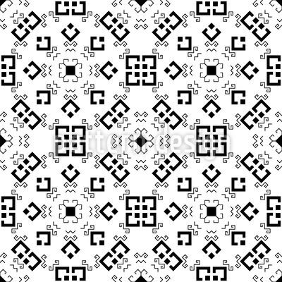 Tschuwaschisch Monochrom Muster Design