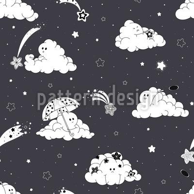 Verspielte Wolken Nahtloses Muster