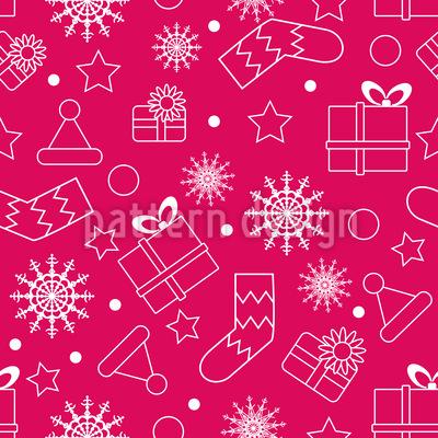 Silhouette der Weihnachtssachen Nahtloses Vektor Muster
