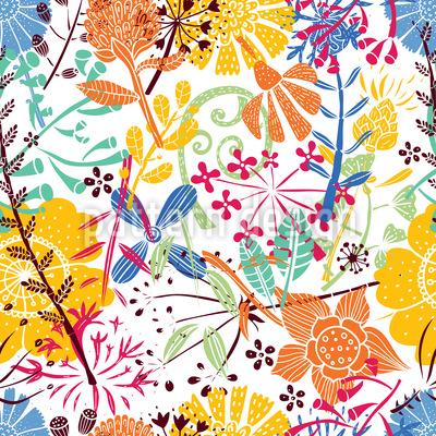Blumenwiese Muster Design