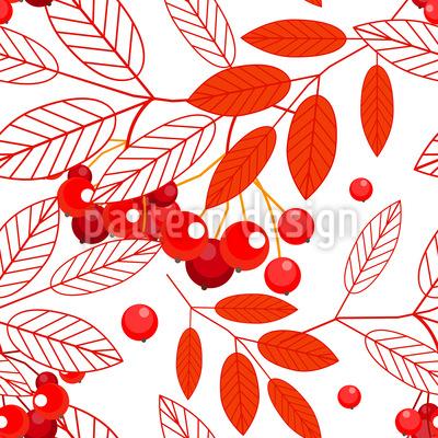 Herbstliche Eberesche Designmuster