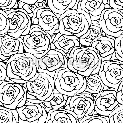 Full Of Roses Seamless Vector Pattern Design