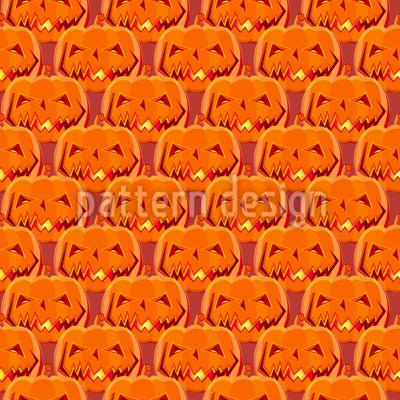 Gruselige Halloween-Kürbisse Rapportmuster