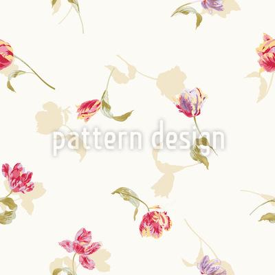 カラフルなチューリップ シームレスなベクトルパターン設計
