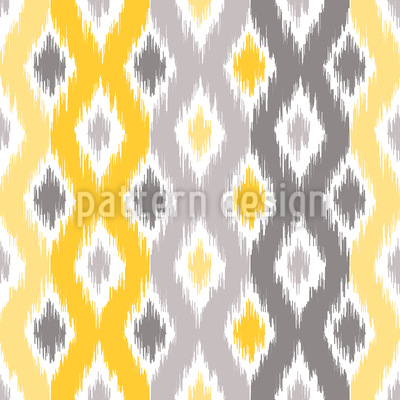 Sunny Diamond Ikat Seamless Vector Pattern