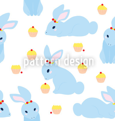 Benny Bunny Seamless Vector Pattern Design