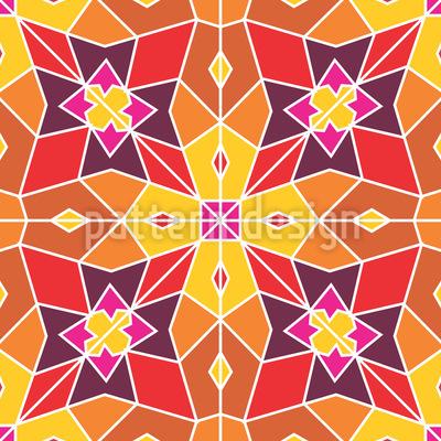 Mirrored Flower Shape Pattern Design