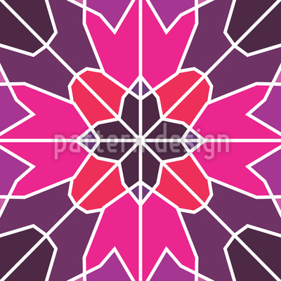 Solidified Flower Design Pattern
