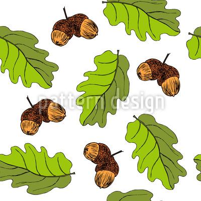 Oak Outono Design de padrão vetorial sem costura
