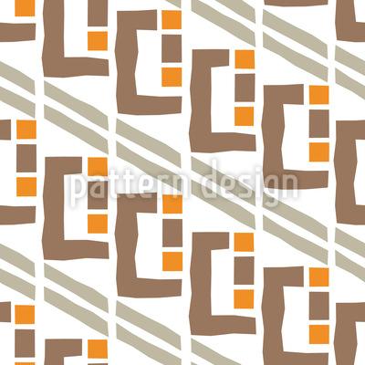 Expressionistische Fenster Nahtloses Vektor Muster