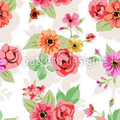 Flora vibrante Design de padrão vetorial sem costura