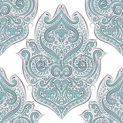 Schöne Boho Schnörkel Vektor Muster