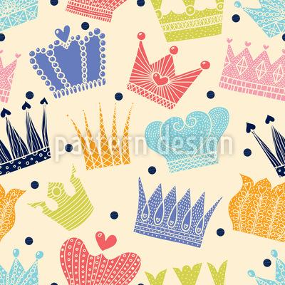 Schöne Kronen Rapportiertes Design