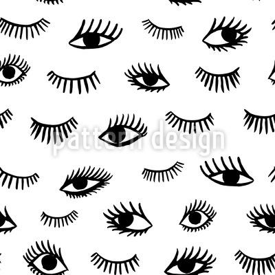 Handgezogenes Augen Muster Design