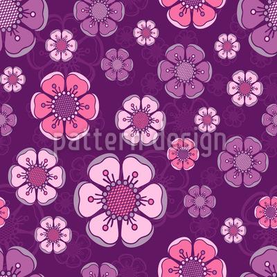 Blühende Kirschblüten Vektor Ornament