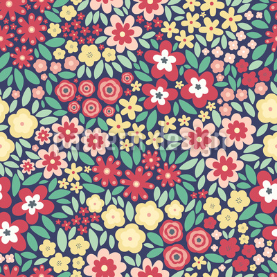 Blumenfeld Muster Design