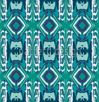 Ultrasonic Emerald Seamless Vector Pattern Design