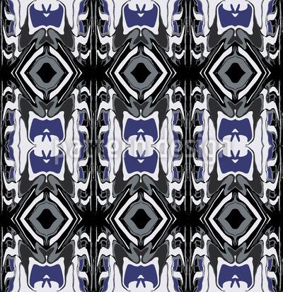 Ultrasonic Blau Nahtloses Vektor Muster