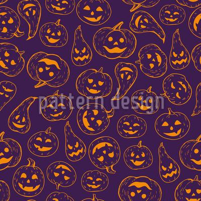 Cabaça Halloween Design de padrão vetorial sem costura